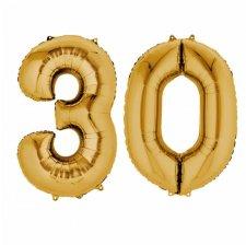 Ballons Mylar Aluminium Chiffre 30 ans Or