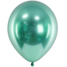 Ballons Vert Bouteille Chromé (x5) - Latex