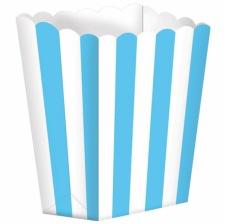 Boîte à popcorn à rayure Bleu (x5)