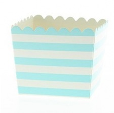 Boîtes à bonbon Rayure Bleu Pastel (x6)