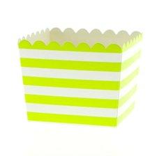 Boîtes à Bonbon Rayure Verte (x6)