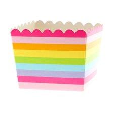 Boîtes à Bonbon Rayures Multicolores (x6)