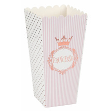 Boîtes à Popcorn Mademoiselle Rose & Or (x8)