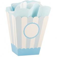 Boîtes à Popcorn  Personnalisable Bleu Pastel (x4)