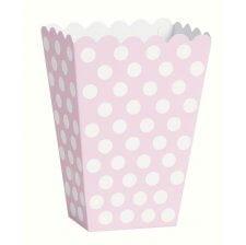 Boîtes à popcorn Pois Rose et Blanc (x8)
