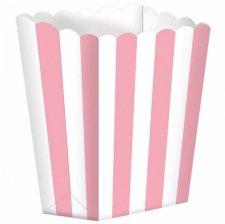 Boîtes à Popcorn à Rayure Rose (x5)