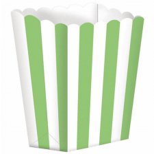 Boîtes à Popcorn Rayure Verte (x5)