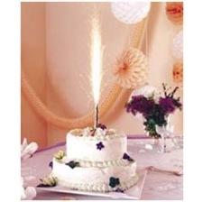 Bougie Fontaine de glace lumineuse pour gâteau 15 cm