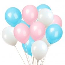 Bouquet de 12 Ballons Bleu & Rose Gender Reveal (3x4)