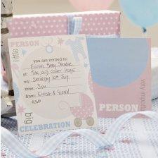 Cartes d'Invitation Baby Shower (x10)