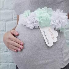 Ceinture de Fleur Mint Baby Shower Future Maman