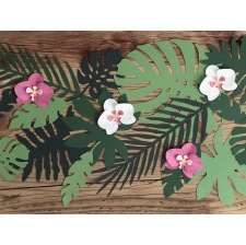 Centre de table Feuillage Vert Tropical (x21)