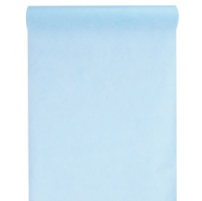 Chemin de table intissé Uni Bleu Pastel