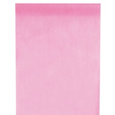 Chemin de table Intissé Uni Rose Pastel