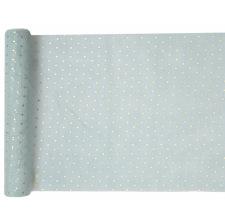 Chemin de table Polyester Pois Blanc