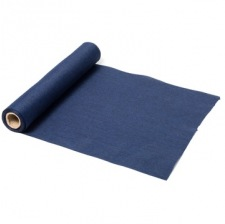 Chemin de table Tissu Uni Bleu Marine