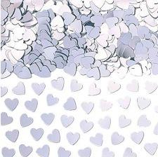 Confettis de table Coeur Argent Etincelant