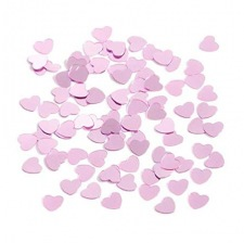 Confettis de table Coeur Rose Etincelant