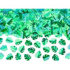 Confettis de table Feuillage Métallique Vert