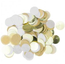 Confettis de table papier Kraft Blanc & Or