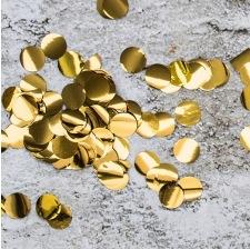 Confettis de table Rond Or Métallisé