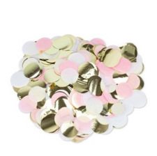 Confettis de table Rose, Blanc, Or, 3 cm - 36g