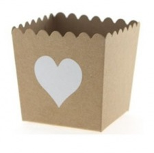 Contenants à bonbon Coeur Craft (x6)