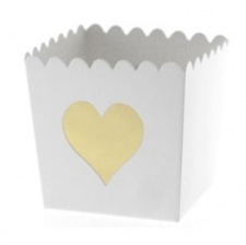 Contenants à bonbon Coeur Or (x6)