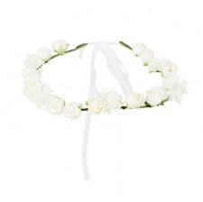 Couronne de Fleur Bohème Blanche 18 cm