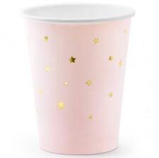 Gobelets en carton Or Etoile Rose Pastel (x6)
