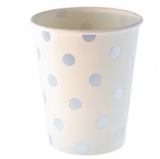 Gobelets en carton à pois Argent (x6)