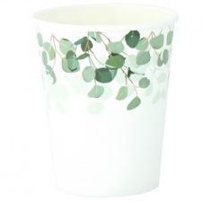 Gobelets en carton Végétal Eucalyptus Vert & Or (x4)