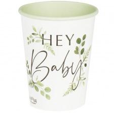 Gobelets Végétal Hey Baby Shower (x8)
