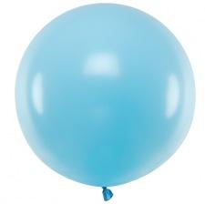 Grand Ballon en Plastique Transparent Bleu 45 cm