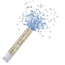 Grand Canon à confettis Bleu Gender Reveal Garçon