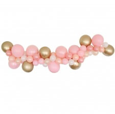 Guirlande de 48 Ballons Rose & Or
