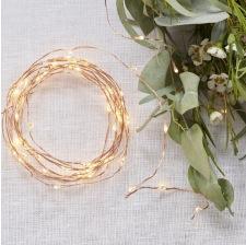 Guirlande de table lumineuse Rose Gold