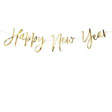 Guirlande Fanion Happy New Year Or