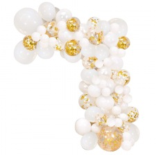Kit Arche Ballons Blanc & Or