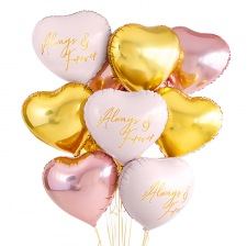Kit Ballons Coeur Always & Forever (x9)