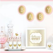 Kit Candy Bar Baby Shower Rose & Or