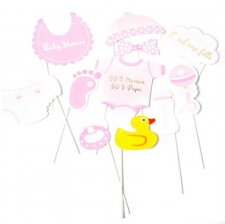 Kit Photobooth Baby Shower Fille (x11)