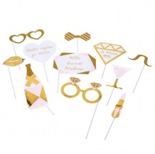 Kit Photobooth MLLE DEVIENT MADAME Rose & Or