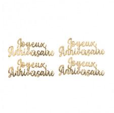 Lettres Étincelantes Joyeux Anniversaire Or (x2)