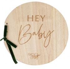 Livre d'Or en bois Hey Baby