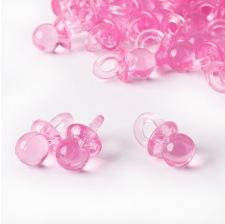 Mini Tétines transparente rose (x12)