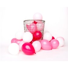 Mix 12 Mini Ballons de baudruche Rose