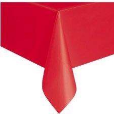 Nappe en plastique rectangulaire Rouge