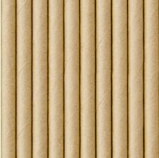 Pailles Biodégradable Papier Kraft (x10)