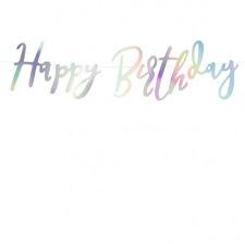 Petite Guirlande Happy Birthday Argent